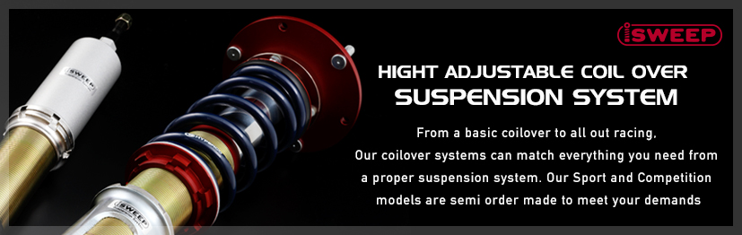 iSWEEP HIGHT ADJUSTABLE COIL OVER SUSPENSION SYSTEM